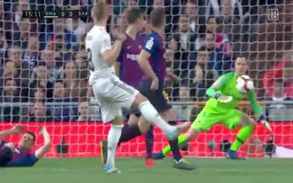 La Liga | DAZN | Sergio Ramos hits Lionel Messi in the face: Real Madrid - FC Barcelona 0: 1 | Full HD 720p